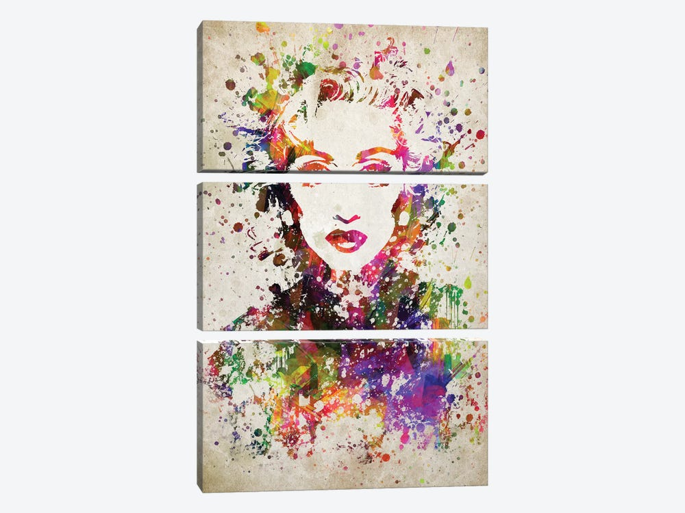 Madonna by Aged Pixel 3-piece Canvas Wall Art
