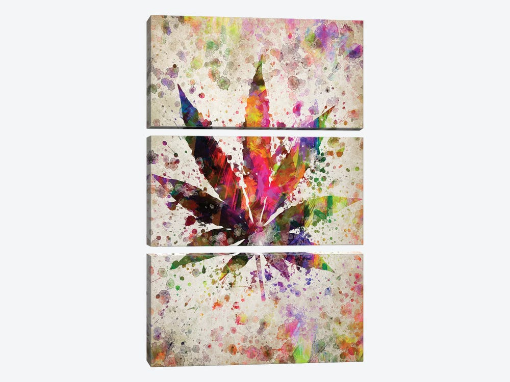 Marijuana by Aged Pixel 3-piece Canvas Art