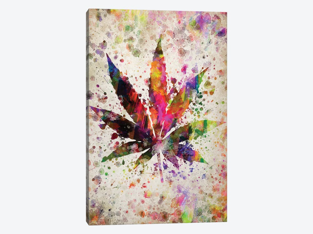 Marijuana by Aged Pixel 1-piece Canvas Wall Art