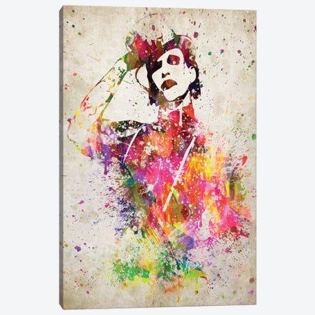 Marilyn Manson Canvas Print #ADP3041} by Aged Pixel Art Print