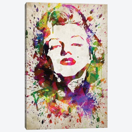 Marilyn Monroe Canvas Print #ADP3042} by Aged Pixel Art Print