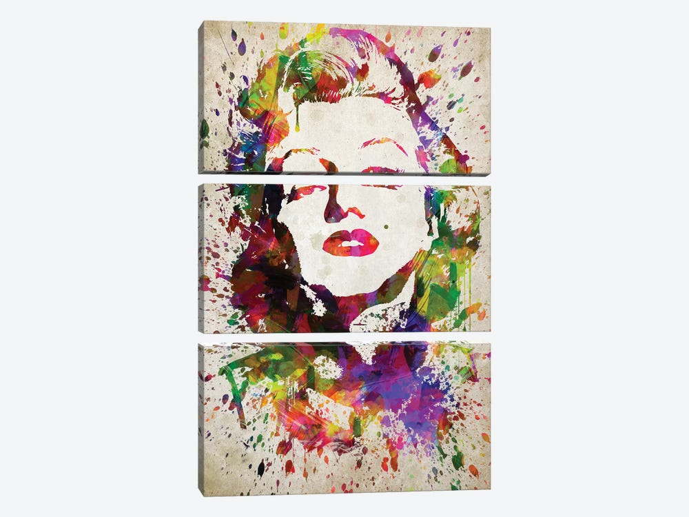 Marilyn Monroe by Aged Pixel 3-piece Canvas Art