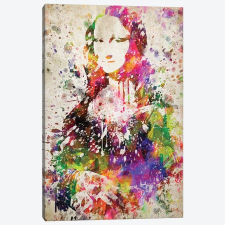 Mona Lisa Canvas Print #ADP3048} by Aged Pixel Canvas Art Print