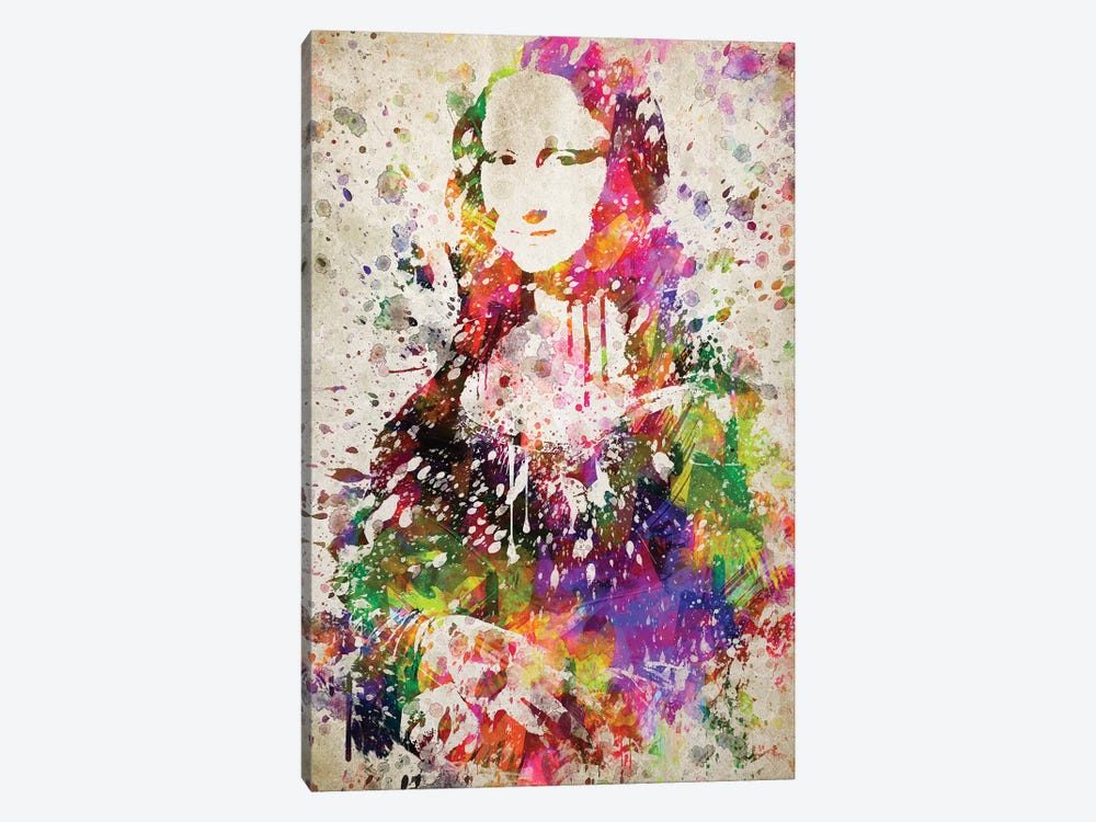 Mona Lisa by Aged Pixel 1-piece Canvas Wall Art