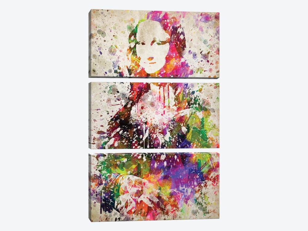 Mona Lisa by Aged Pixel 3-piece Canvas Wall Art