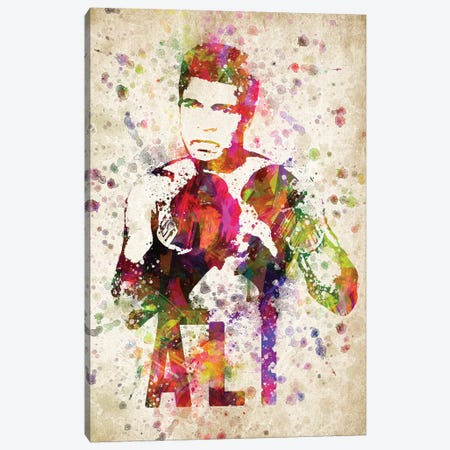 Muhammad Ali Canvas Print #ADP3049} by Aged Pixel Canvas Art Print