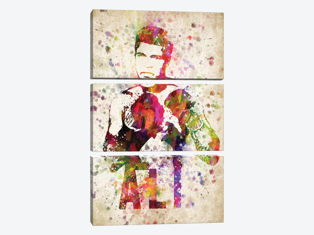 Muhammad Ali by Aged Pixel 3-piece Canvas Print