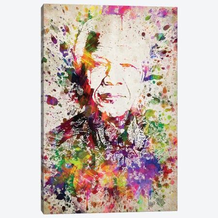 Nelson Mandela Canvas Print #ADP3052} by Aged Pixel Canvas Artwork