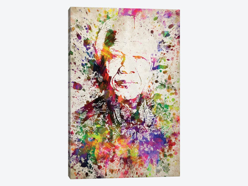 Nelson Mandela by Aged Pixel 1-piece Canvas Art Print