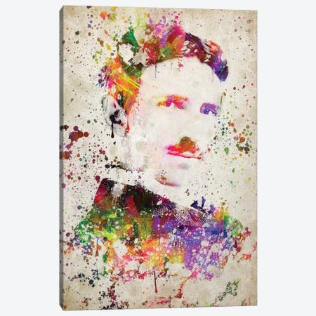 Nikola Tesla Canvas Print #ADP3054} by Aged Pixel Canvas Print
