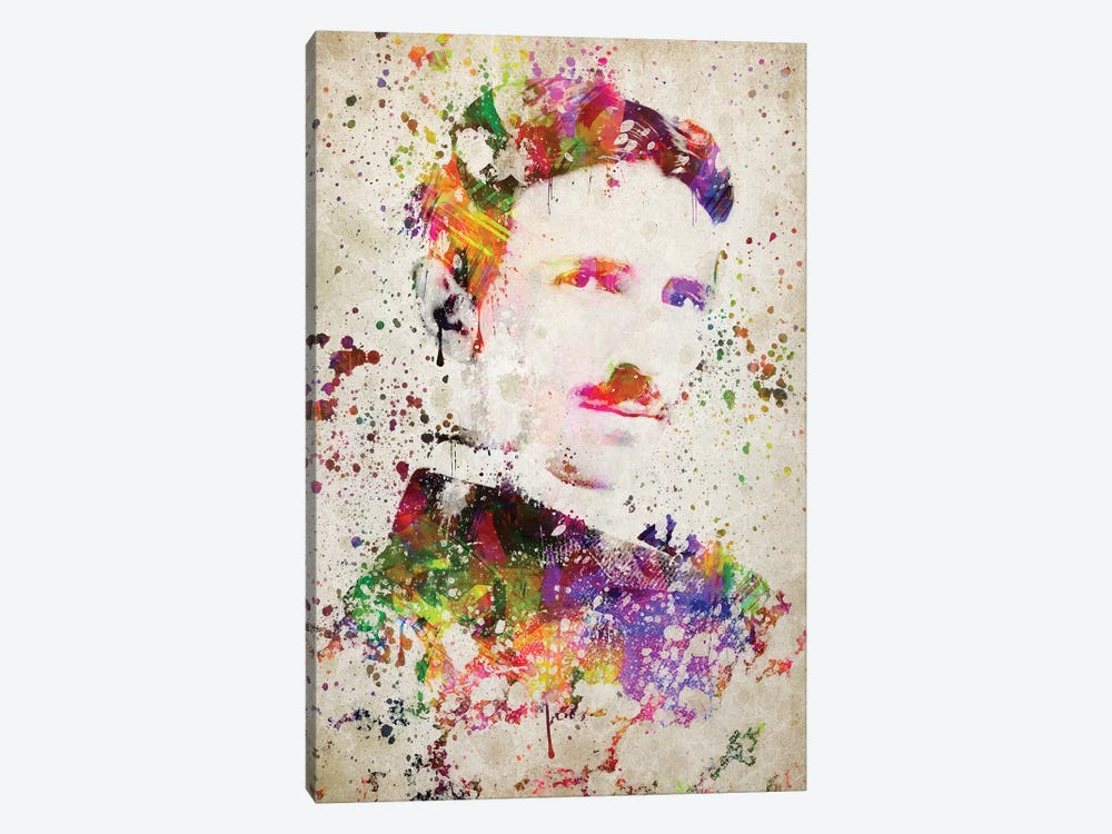 Nikola Tesla by Aged Pixel 1-piece Canvas Print