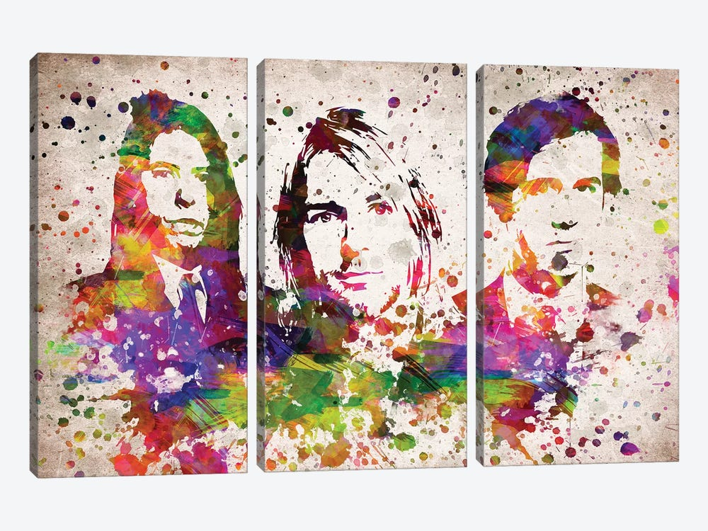 Nirvana by Aged Pixel 3-piece Canvas Art