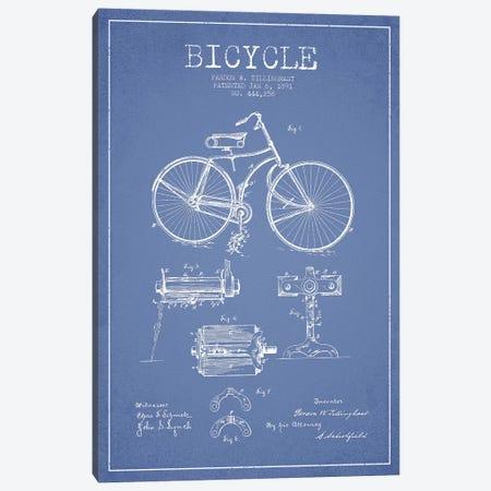 Pardon W. Tillinghast Bicycle Patent Sketch (Light Blue) Canvas Print #ADP3064} by Aged Pixel Canvas Artwork