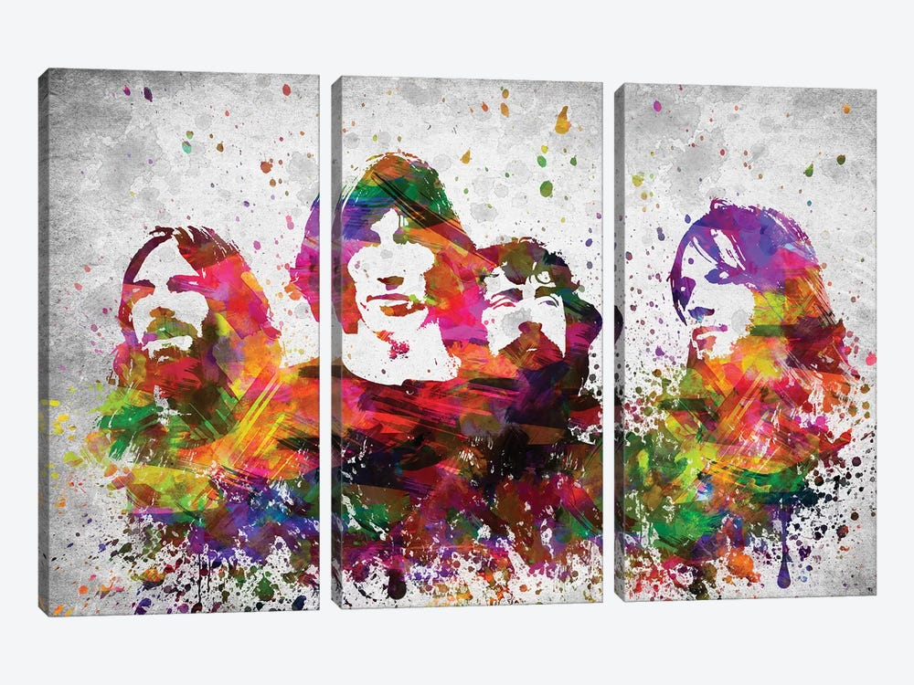 Pink Floyd by Aged Pixel 3-piece Canvas Print