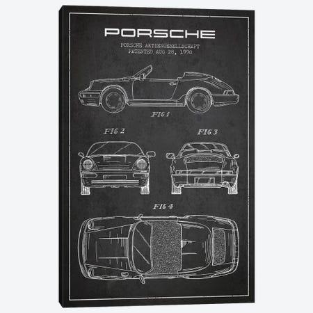 Porsche Corporation Porsche Patent Sketch (Charcoal) Canvas Print #ADP3074} by Aged Pixel Canvas Print