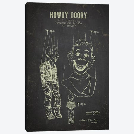R.Y. Allen et al. Howdy Doody Patent Sketch (Charcoal) Canvas Print #ADP3086} by Aged Pixel Canvas Art