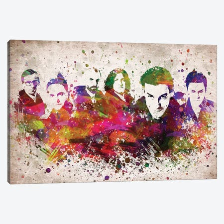 Rammstein Canvas Print #ADP3087} by Aged Pixel Canvas Artwork