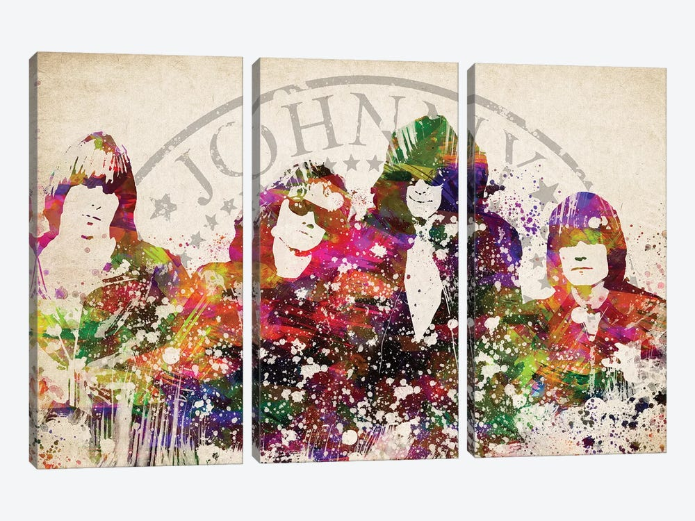 Ramones by Aged Pixel 3-piece Canvas Wall Art