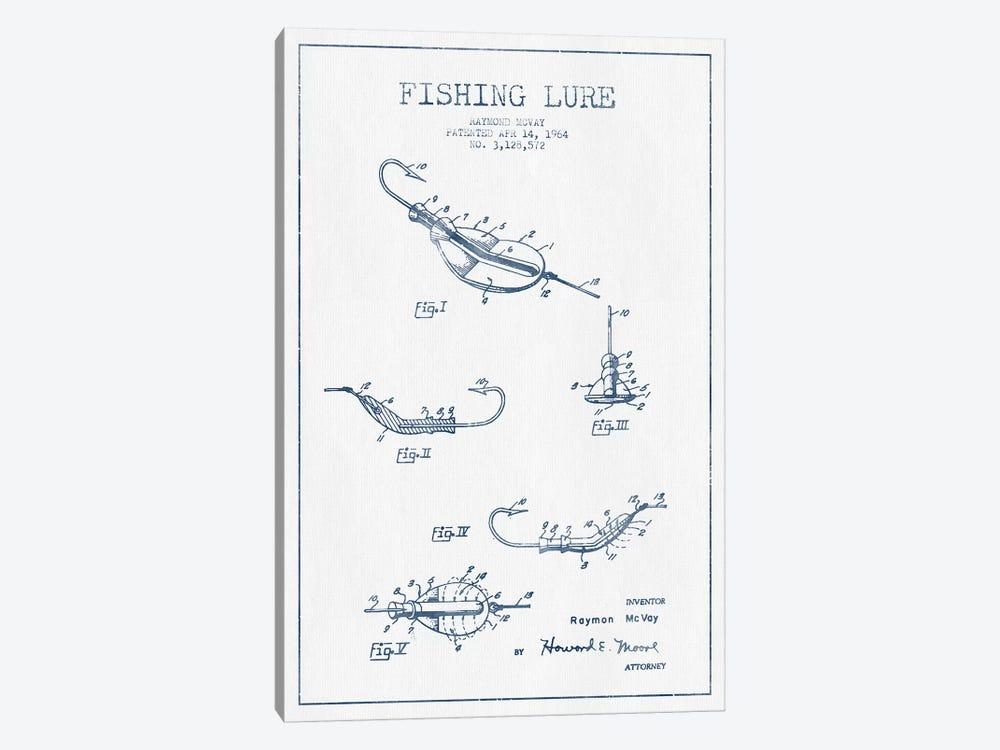 Raymond McVay Fishing Lure Patent Sketch (Ink) II by Aged Pixel 1-piece Canvas Art