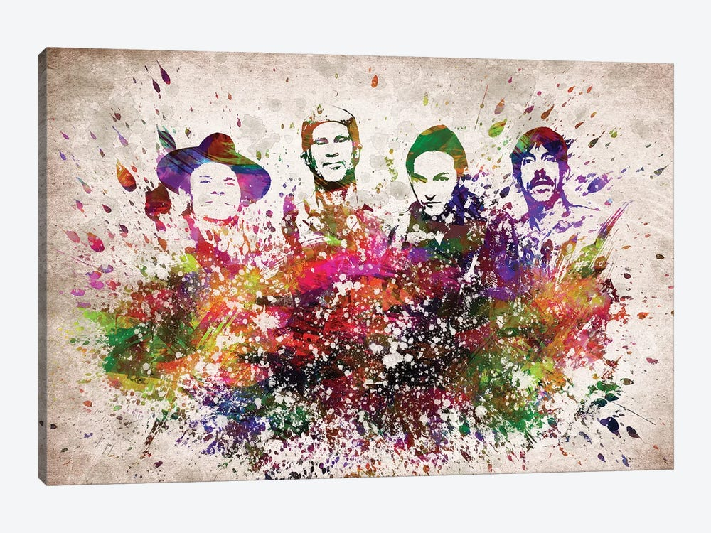 Red Hot Chili Peppers by Aged Pixel 1-piece Canvas Art