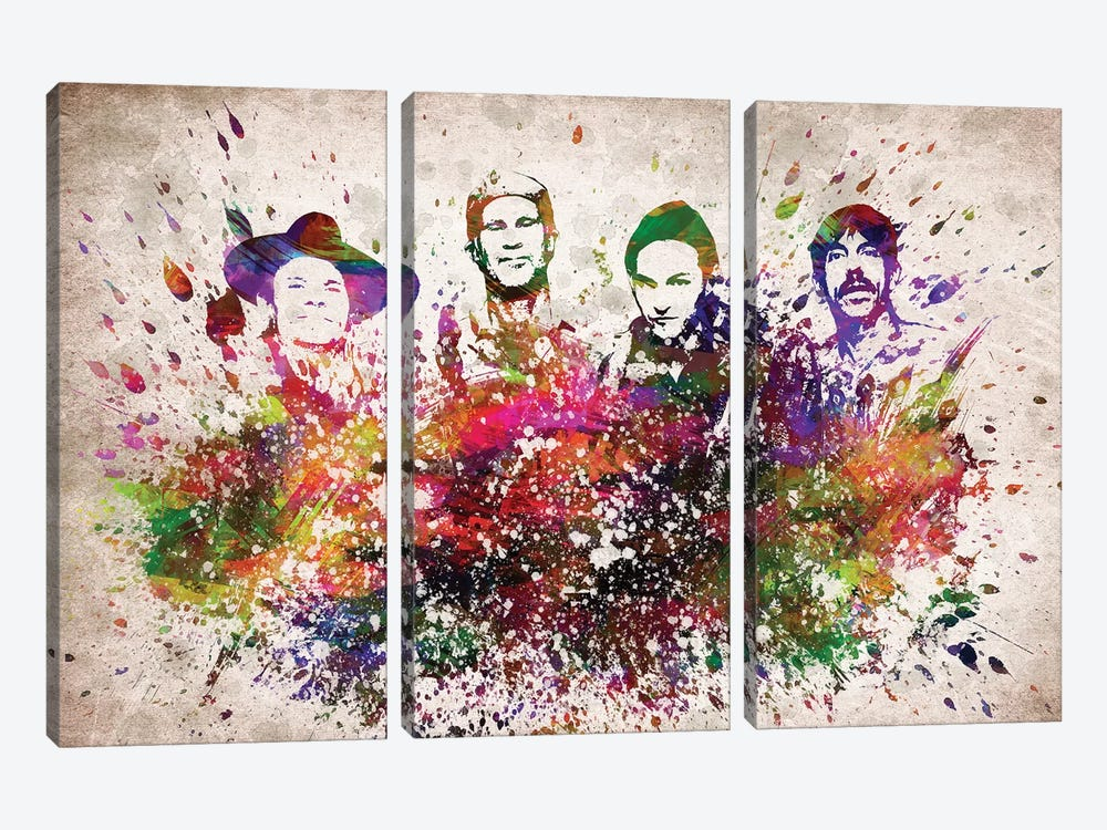 Red Hot Chili Peppers by Aged Pixel 3-piece Canvas Art
