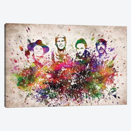 Red Hot Chili Peppers Canvas Print #ADP3103} by Aged Pixel Canvas Art