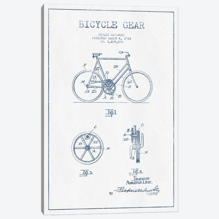 Robert Ringwood Bicycle Gear Patent Sketch (Ink) Canvas Print #ADP3108} by Aged Pixel Canvas Art