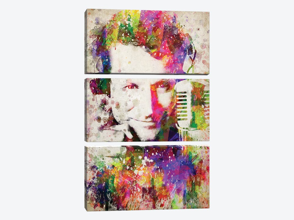 Robin Williams by Aged Pixel 3-piece Canvas Wall Art