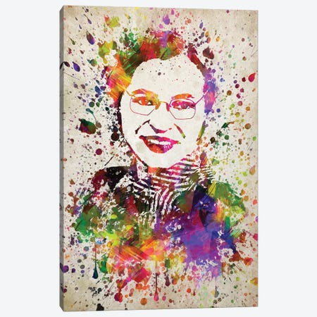 Rosa Parks Canvas Print #ADP3111} by Aged Pixel Art Print
