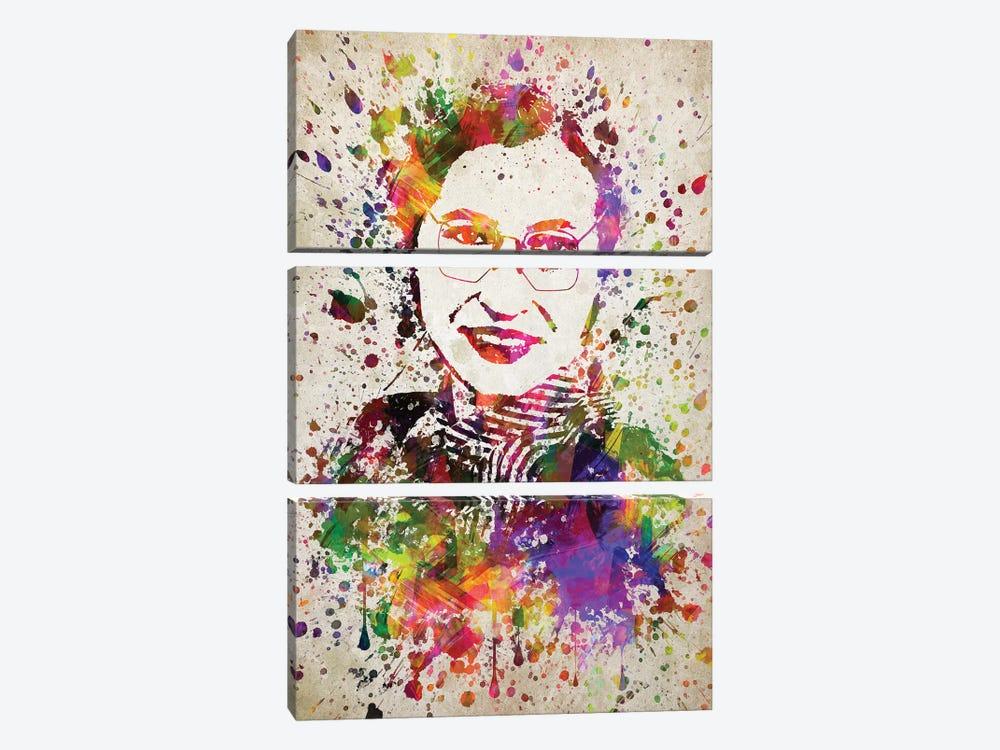 Rosa Parks by Aged Pixel 3-piece Canvas Print