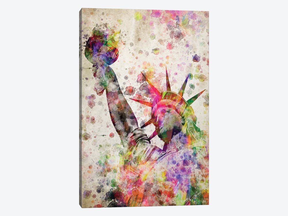 Statute Of Liberty by Aged Pixel 1-piece Canvas Print