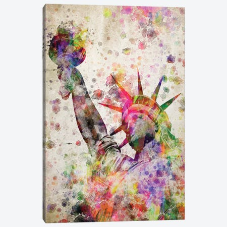 Statute Of Liberty Canvas Print #ADP3122} by Aged Pixel Canvas Wall Art