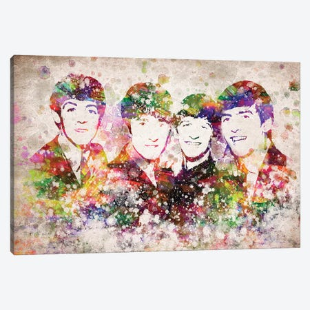 The Beatles Canvas Print #ADP3128} by Aged Pixel Canvas Wall Art