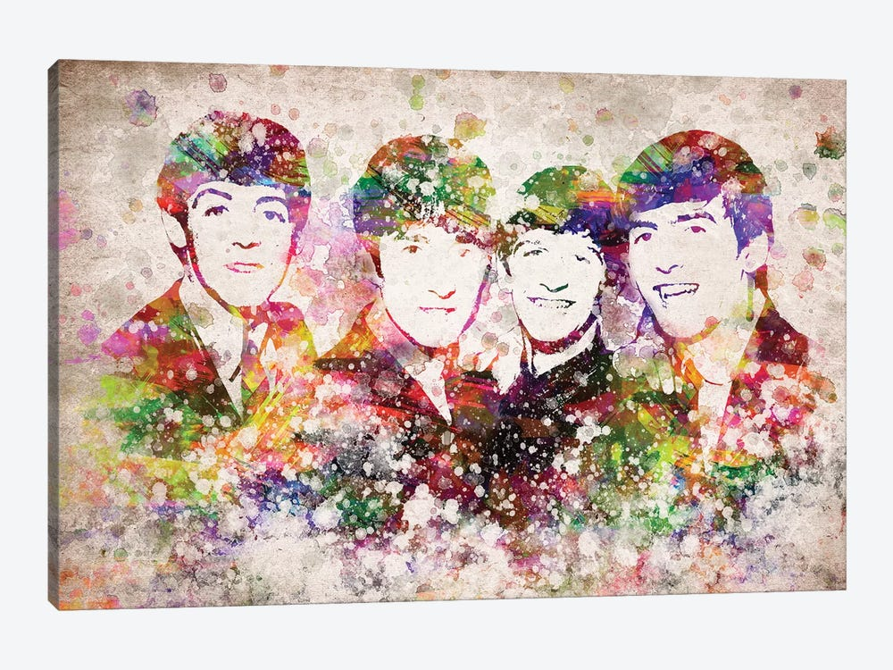The Beatles by Aged Pixel 1-piece Canvas Art Print
