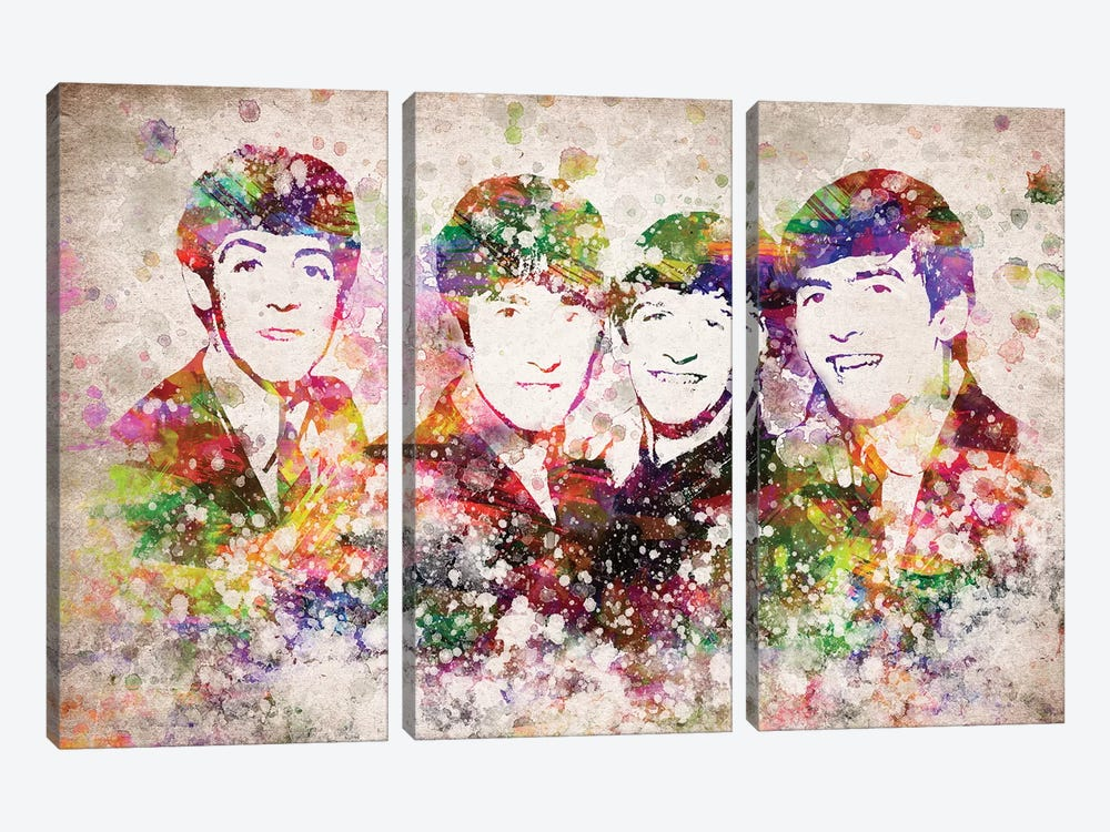 The Beatles by Aged Pixel 3-piece Art Print
