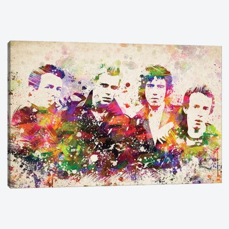 The Clash Canvas Print #ADP3129} by Aged Pixel Canvas Wall Art
