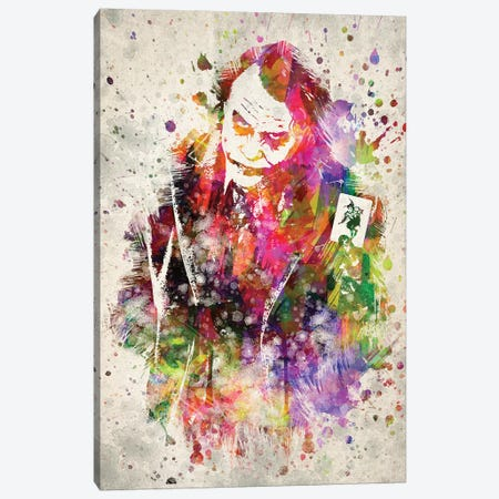 The Joker (Heath Ledger) Canvas Print #ADP3131} by Aged Pixel Art Print