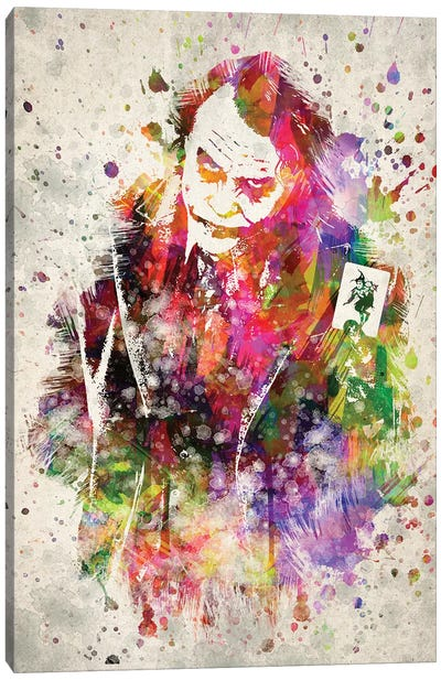 The Joker (Heath Ledger) Canvas Art Print