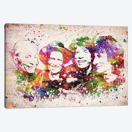 The Rolling Stones Canvas Print #ADP3134} by Aged Pixel Canvas Art