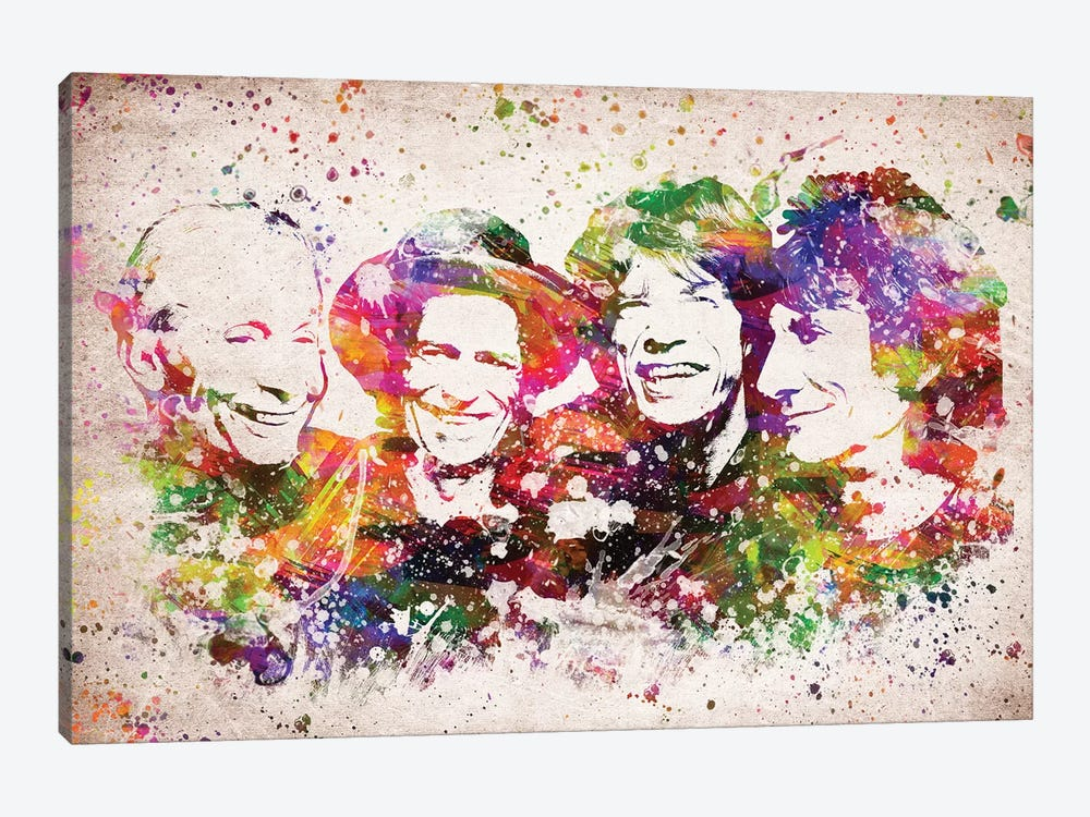 The Rolling Stones by Aged Pixel 1-piece Canvas Artwork
