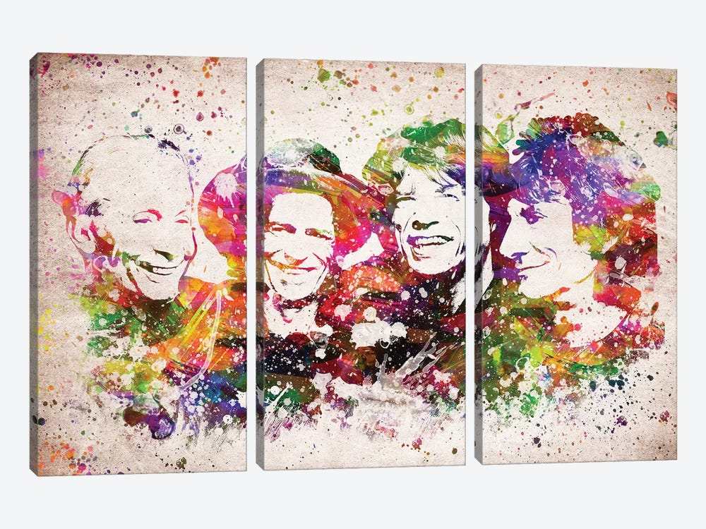 The Rolling Stones by Aged Pixel 3-piece Canvas Artwork