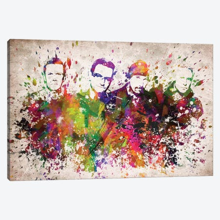 U2 Canvas Print #ADP3137} by Aged Pixel Canvas Artwork