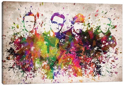 U2 Canvas Art Print