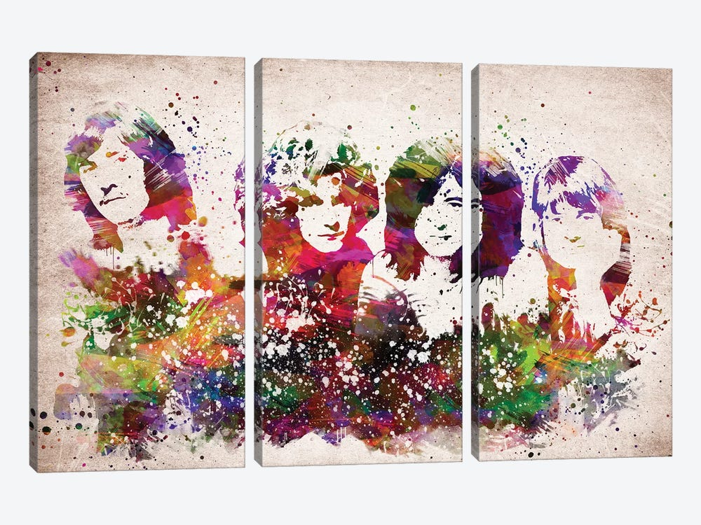 Led Zeppelin by Aged Pixel 3-piece Art Print