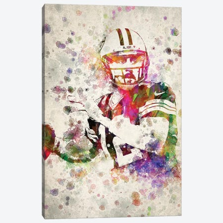 Aaron Rodgers Canvas Print #ADP3169} by Aged Pixel Canvas Wall Art
