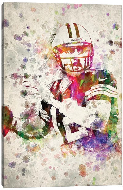 Aaron Rodgers Canvas Art Print