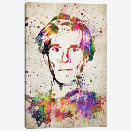 Andy Warhol Canvas Print #ADP3171} by Aged Pixel Art Print