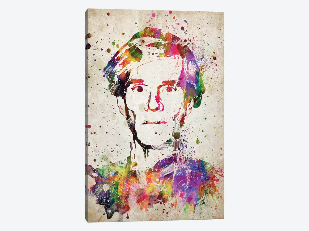 Andy Warhol by Aged Pixel 1-piece Canvas Print