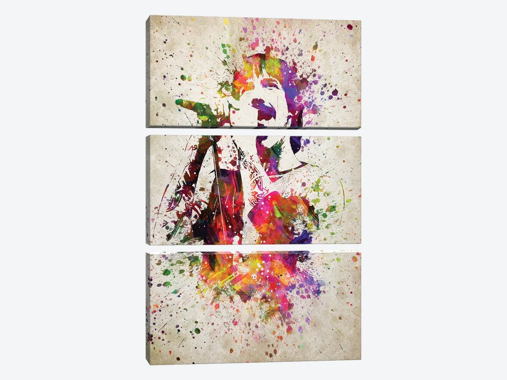 Anthony Kiedis by Aged Pixel 3-piece Canvas Artwork