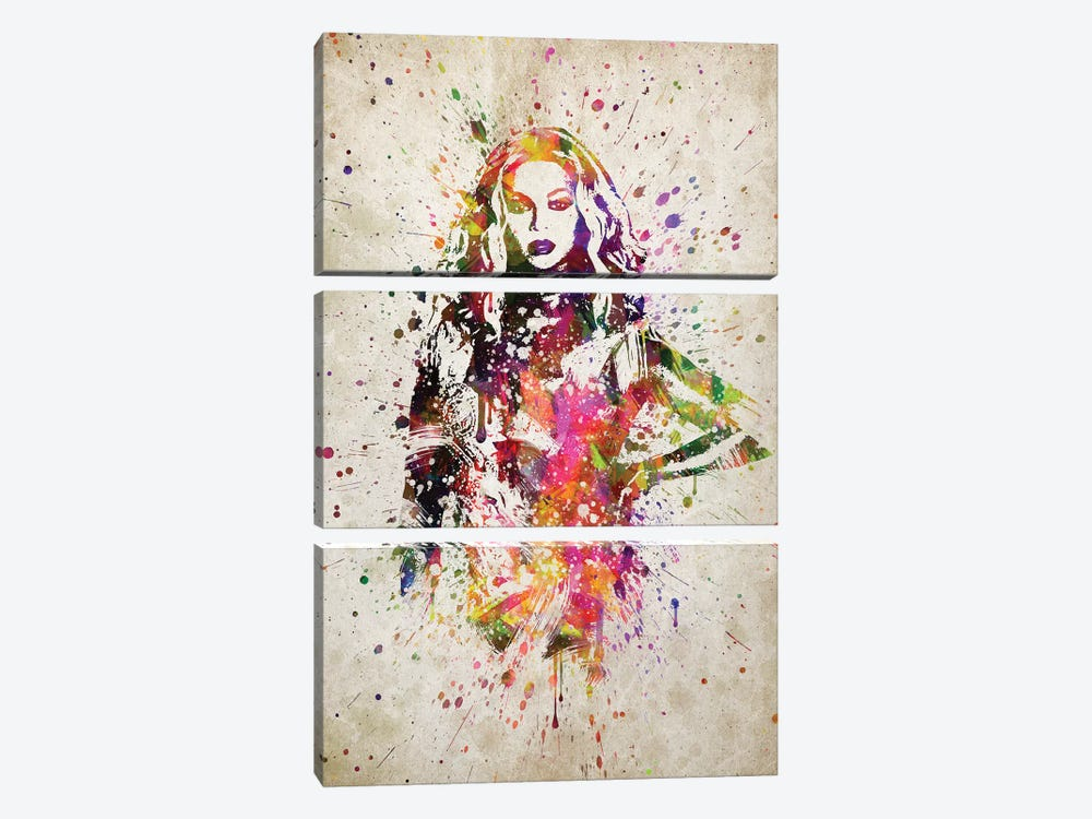 Beyonce II by Aged Pixel 3-piece Canvas Art Print